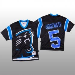 NFL Carolina Panthers 5 Teddy Bridgewater Black Men Mitchell  26 Nell Big Face Fashion Limited NFL Jersey