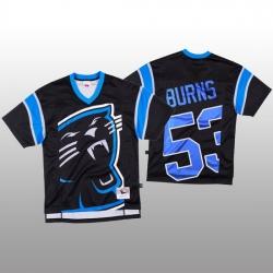 NFL Carolina Panthers 53 Brian Burns Black Men Mitchell  26 Nell Big Face Fashion Limited NFL Jersey