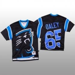NFL Carolina Panthers 65 Dennis Daley Black Men Mitchell  26 Nell Big Face Fashion Limited NFL Jersey