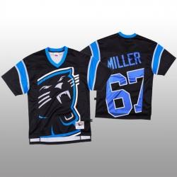 NFL Carolina Panthers 67 John Miller Black Men Mitchell  26 Nell Big Face Fashion Limited NFL Jersey