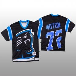 NFL Carolina Panthers 72 Taylor Moton Black Men Mitchell  26 Nell Big Face Fashion Limited NFL Jersey