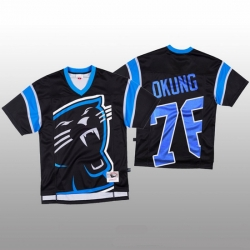 NFL Carolina Panthers 76 Russell Okung Black Men Mitchell  26 Nell Big Face Fashion Limited NFL Jersey