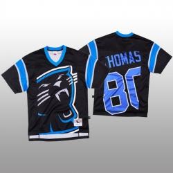NFL Carolina Panthers 80 Ian Thomas Black Men Mitchell  26 Nell Big Face Fashion Limited NFL Jersey