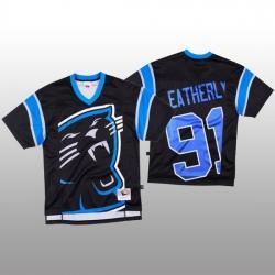 NFL Carolina Panthers 91 Stephen Weatherly Black Men Mitchell  26 Nell Big Face Fashion Limited NFL Jersey