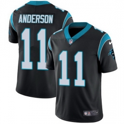 Nike Panthers 11 Robby Anderson Black Team Color Men Stitched NFL Vapor Untouchable Limited Jersey