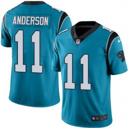 Nike Panthers 11 Robby Anderson Blue Men Stitched NFL Limited Rush Jersey