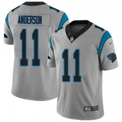 Nike Panthers 11 Robby Anderson Silver Men Stitched NFL Limited Inverted Legend Jersey