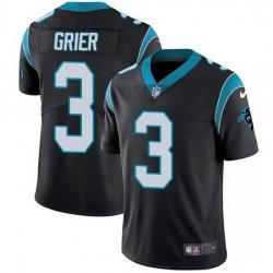 Nike Panthers 3 Will Grier Black Team Color Men Stitched NFL Vapor Untouchable Limited Jersey