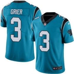 Nike Panthers 3 Will Grier Blue Alternate Men Stitched NFL Vapor Untouchable Limited Jersey