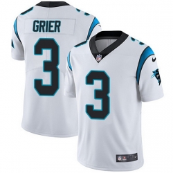 Nike Panthers 3 Will Grier White Men Stitched NFL Vapor Untouchable Limited Jersey
