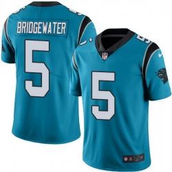 Nike Panthers 5 Teddy Bridgewater Blue Alternate Men Stitched NFL Vapor Untouchable Limited Jersey