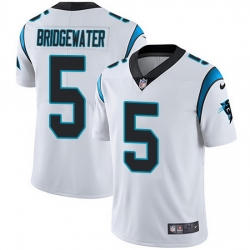 Nike Panthers 5 Teddy Bridgewater White Men Stitched NFL Vapor Untouchable Limited Jersey