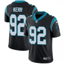 Nike Panthers 92 Zach Kerr Black Team Color Men Stitched NFL Vapor Untouchable Limited Jersey