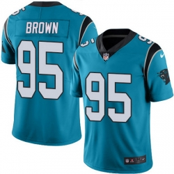 Nike Panthers 95 Derrick Brown Blue Alternate Men Stitched NFL Vapor Untouchable Limited Jersey