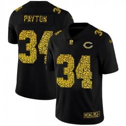Chicago Bears 34 Walter Payton Men Nike Leopard Print Fashion Vapor Limited NFL Jersey Black