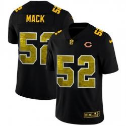 Chicago Bears 52 Khalil Mack Men Black Nike Golden Sequin Vapor Limited NFL Jersey