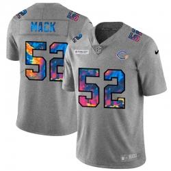 Chicago Bears 52 Khalil Mack Men Nike Multi Color 2020 NFL Crucial Catch NFL Jersey Greyheather