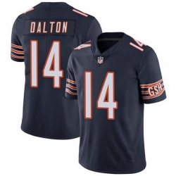 Men Chicago Bears 14 Andy Dalton Navy Vapor untouchable Limited Stitched Jersey