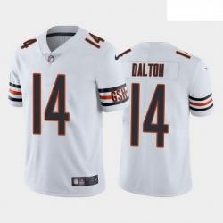 Men Chicago Bears 14 Andy Dalton White Vapor untouchable Limited Stitched Jersey