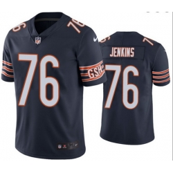 Men Chicago Bears 76 Teven Jenkins Navy Vapor untouchable Limited Stitched Jersey