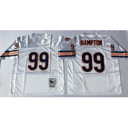 Men Chicago Bears 99 Dan Hampton White M&N Road Throwback Jersey