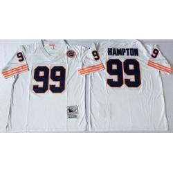 Men Chicago Bears 99 Dan Hampton White M&N Throwback Jersey