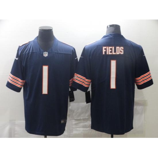 Men Nike Chicago Bears Justin Fields 1 Navy Vapor Limited Jersey