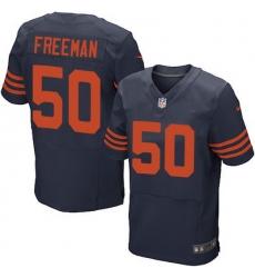 Nike Bears #50 Jerrell Freeman Navy Blue Alternate Mens Stitched NFL Elite Jersey