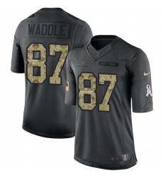 Nike Bears #87 Tom Waddle Black Mens Stitched NFL Limited 2016 Salute to Service Jersey
