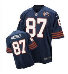 Nike Bears #87 Tom Waddle Navy Blue Throwback Mens Stitched NFL Elite Jersey