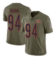 Nike Bears 94 Robert Quinn Olive Men Stitched NFL Limited 2017 Salute To Service Jersey