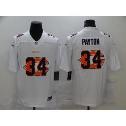 Nike Chicago Bears 34 Walter Payton White Shadow Logo Limited Jersey
