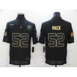 Nike Chicago Bears 52 Khalil Mack Black 2020 Salute To Service Limited Jersey