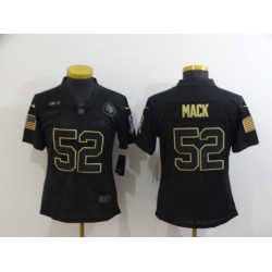 Women Nike Chicago Bears 52 Khalil Mack Black Women 2020 Salute To Service Limited Jersey