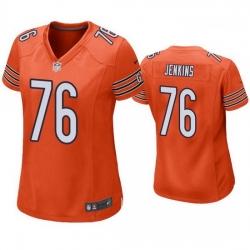 Women Nike Chicago Bears 76 Teven Jenkins  orange Vapor Untouchable Limited Women Jersey