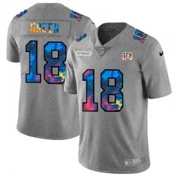 Cincinnati Bengals 18 A J  Green Men Nike Multi Color 2020 NFL Crucial Catch NFL Jersey Greyheather