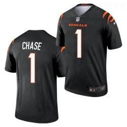 Men Cincinnati Bengals #1 Ja'Marr Chase Black 2021 Legend Football Jersey