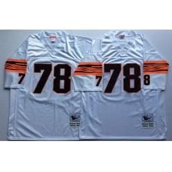 Men Cincinnati Bengals 78 Anthony Munoz White M&N Throwback Jersey
