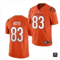 Men Cincinnati Bengals #83 Tyler Boyd 2021 Orange Vapor Untouchable Limited Stitched NFL Jersey