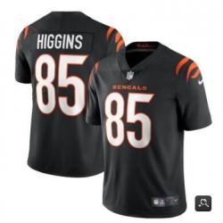 Men Cincinnati Bengals #85 Tee Higgins 2021 Black Vapor Untouchable Limited Stitched NFL Jersey