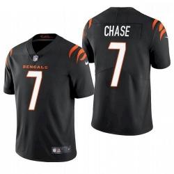 Men Cincinnati Bengals Ja'Marr Chase Black 2021 Draft Jersey