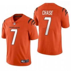 Men Cincinnati Bengals Ja'Marr Chase Orange 2021 Draft Jersey