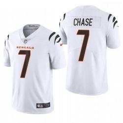 Men Cincinnati Bengals Ja'Marr Chase White 2021 Draft Jersey