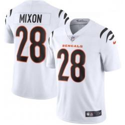 Men Nike Cincinnati Bengals 28 Joe Mixon White Vapor Limited Jersey