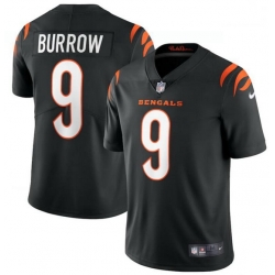 Men Nike Cincinnati Bengals 9 Joe Burrow Black Vapor Limited Jersey