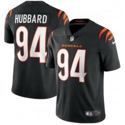 Men Nike Cincinnati Bengals 94 Sam Hubbard Black Vapor Limited Jersey