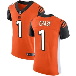 Nike Cincinnati Bengals 1 Ja 27Marr Chase Orange Alternate Men Stitched NFL New Elite Jersey