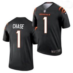 Youth Cincinnati Bengals #1 Ja'Marr Chase Black 2021 Legend Football Jersey