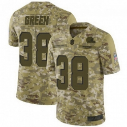 Men Cleveland Browns 38 A.J. Green Brown 2018 Saluto To Service Limited Jersey