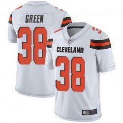 Men Cleveland Browns 38 A.J. Green White Vapor Limited Limited Jersey